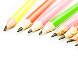 Kleurpotloden voor homepage grafisch design