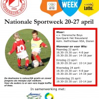 Poster Nationale Sportweek