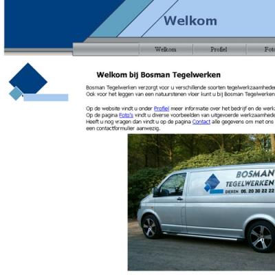 Website Bosman Tegelwerken