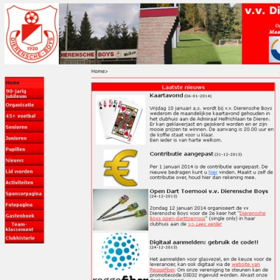 Website v.v. Dierensche Boys