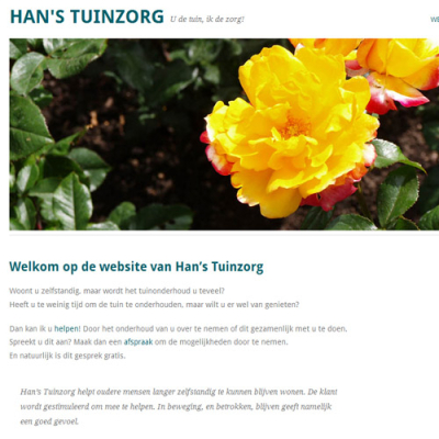 Website Han's Tuinzorg